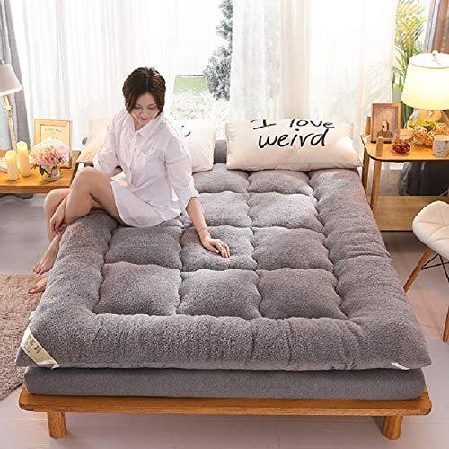 YIEBAI Matratze Winter warmes Bett Luxusmatte Warm halten Klappmatratze...