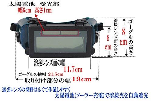 yutori『太陽電池式自動遮光溶接ゴーグル(グリーン)』