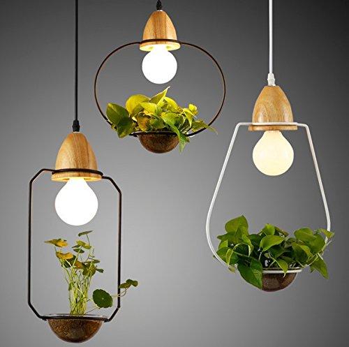 BBSLT Piante e fiori di legno ferro battuto lampadario , b bianco