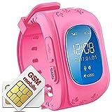 Hangang Tracker GPS per bambini Smartwatch bambini anti-erra SOS Calling puntatore di bambini a...