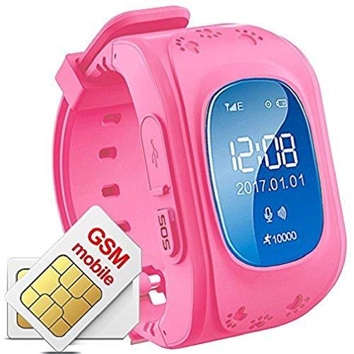 Hangang Smartwatch Niños Rastreador GPS para niños Anti-erra SOS Calling Buscador de niños a Prueba de Agua Rastreo en Tiempo Real, Reloj Smart Kids Compatible con teléfonos Inteligentes (Verde)