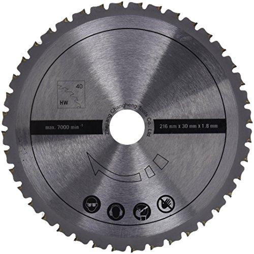 Scheppach 7901200703 Zubehör Säge / HW Universal-Sägeblatt, passend für die HM80MP Multifunktionssäge, Laminat, NE-Metalle, Kunststoff, Stahl, Durchmesser 216 x 30 x 1,8 mm / 40 Z