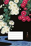 """Chrysanthemen: Designer Notizbuch, Tagebuch für Künstler, Japan Notebook, Notizheft etwa A5 (15,3 x 22,9 cm), liniert mit Motiv: """"Chrysanthemen """" von Ohara Koson"""
