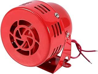 Fealay Electric Car Truck Motorcycle Driven Air Raid Siren Horn Alarm Loud 50s Red(12V)