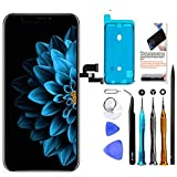 TSIOFO for iPhone X OLED Screen Replacement 5.8 inch[NOT LCD] Display 3D Touch Digitizer Frame Assembly Full Repair Kit with Repair Tools, Screen Protector, Instructions