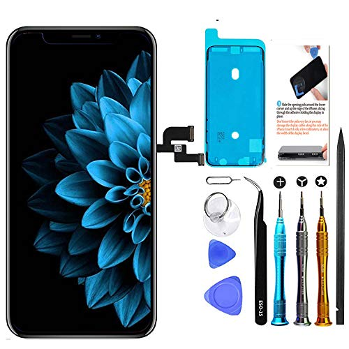 Price comparison product image TSIOFO for iPhone X OLED Screen Replacement 5.8 inch[NOT LCD] Display 3D Touch Digitizer Frame Assembly Full Repair Kit with Repair Tools,  Screen Protector,  Instructions