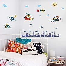 48x108cm,Wall Stickers for Living Room Decoration,Wall Tattoo Art,Creative Airplane Cartoon Nursery Kids Eco-Friendly DIY Mural Decal Decals Acrylic Christmas Birthday Decoration Refrigerator