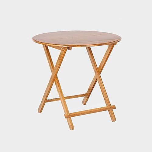 Table pliante réglable Table Ronde Table à thé Pliante Bureau de Livre Bureau d'ordinateur Table Multi-usages Peut être tourné (Taille   80  80  52CM)