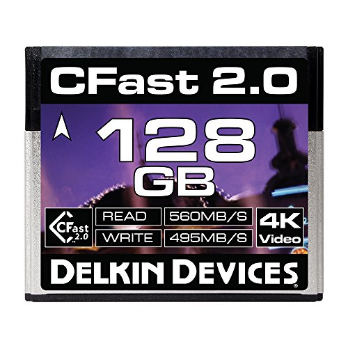 Delkin 128GB Cinema CFast 2.0 Memory Card