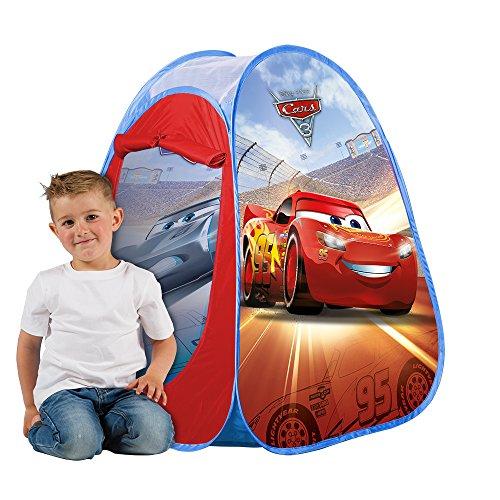 Disney John 72554 Pop Up Spielzelt Cars-Kinderzelt, Wurfzelt, Spielhaus mit gedrucktem Motiv für Kinder, Multicolor