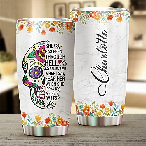 Botella personalizada de acero inoxidable con tapa de pajita, taza de viaje de café, personaliza el nombre aislado vaso de acero inoxidable, taza de viaje con aislamiento al vacío