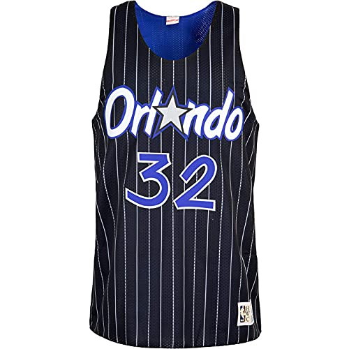 Mitchell & Ness Shaquille O´Neal Orlando Magic - Camiseta de tirantes reversible,...