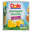Dole Canned Pineapple Chunks in Pineapple Juice, 398 ml Can