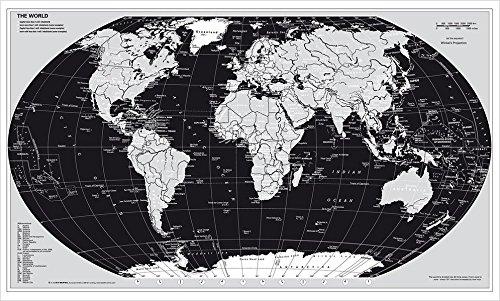 Weltkarte Silberedition