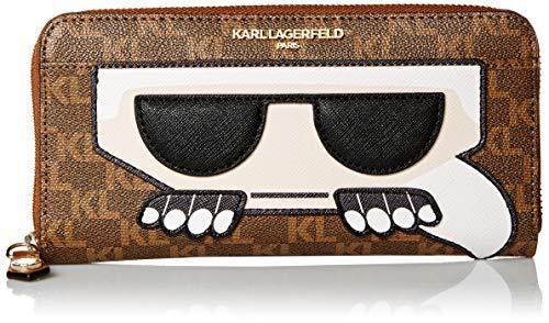 Karl Lagerfeld Paris Peeking Karl Geldbörse, Braun (Braun/Khaki/Combo), Einheitsgröße