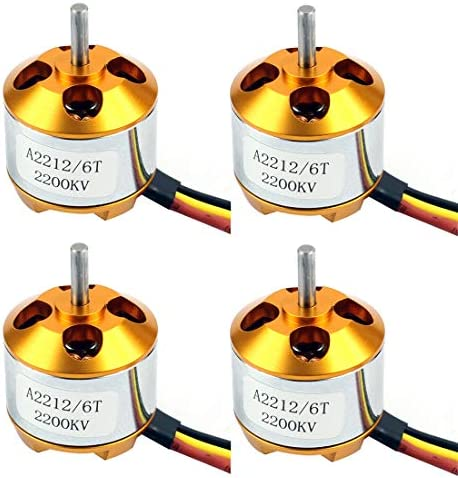 QWinOut A2212 2200KV Brushless Outrunner Motor with Mounts 6T for DIY RC Aircraft Plane Multi product image