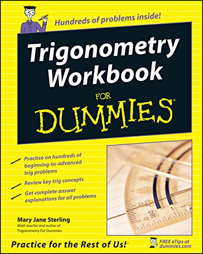 Compare Textbook Prices for Trigonometry Workbook For Dummies 1 Edition ISBN 9780764587818 by Sterling, Mary Jane
