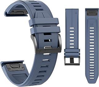 ساعة MCXGL كويك فيت الرياضية من السيليكون متوافقة مع Garmin Fenix 5/Fenix 5 Plus/Forerunner 935/Approach S60/Quatix 5