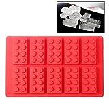 Stampo in silicone come mattoncini Lego Klötze cuocere cubetti forme CIOCCOLATINI