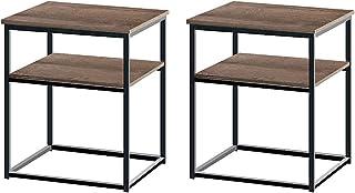 AZL1 Life Concept Modern Coffee Table, 2pc, Dark Oak/2PC
