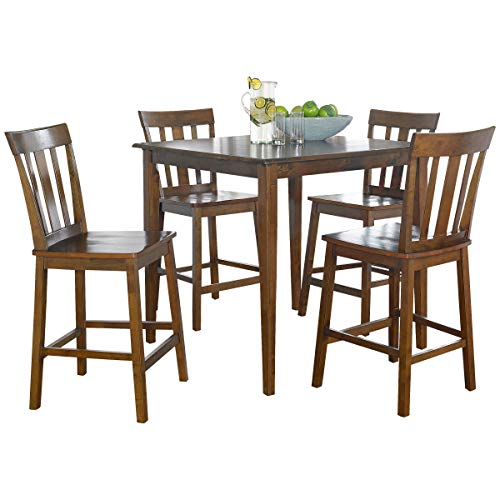 Mainstay 5-Piece Counter Height Dining Set in Cherry Finish