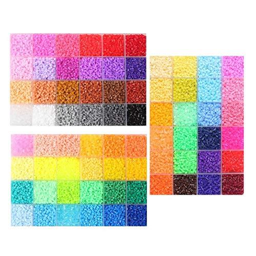 UYGN 1000Pcs / Bag 2.6Mm Hama Beads Puzzle Toys 72 Colores DIY Beads para Niños Adultos 3D Rompecabezas