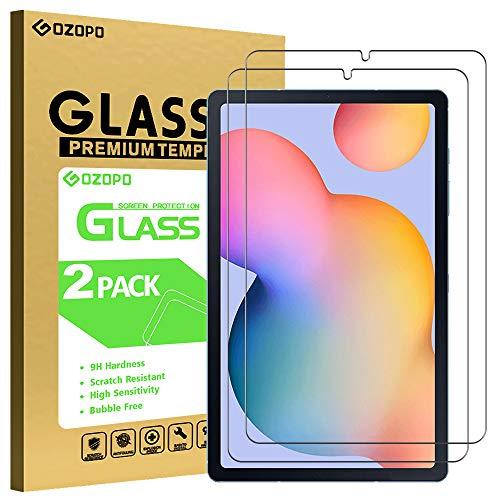 """GOZOPO [2-Pack] Protection d'écran pour Samsung Galaxy Tab S6 Lite 10,1"""" SM-P610/P615 [2.5D bord à bord] Verre Trempé Film de Protection Samsung Tab S6 Lite 10,4 [Résistant aux rayures]"""