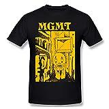 MGMT Little Dark Age 2 Men T-Shirt Round Neck Short Sleeve Soft Summer Tee Tops Black L