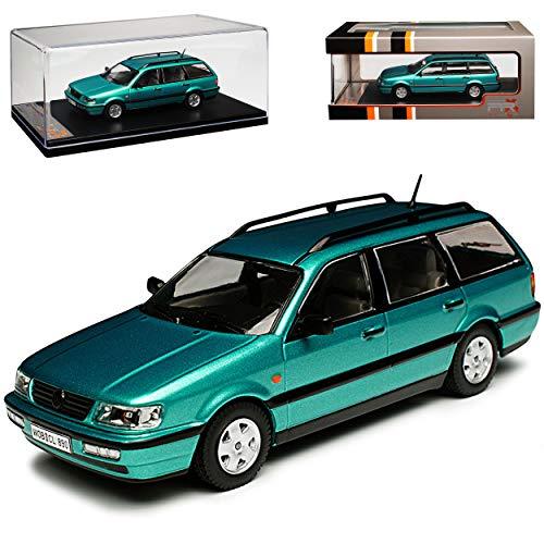 Volkwagen Passat B4 Break Kombi Grün 1993-1997 1/43 IXO PremiumX Modell Auto mit individiuellem Wunschkennzeichen