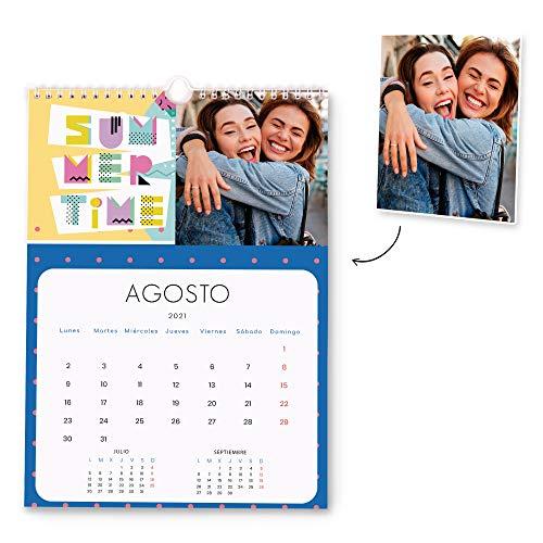 Fotoprix Calendario 2021 pared Personalizado con tus fotos   Varios Diseños y Tamaños Disponibles   Calendario anual con diseño POP   Tamaño: A4 (21 x 29,7 cms)