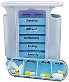 M&H-24 Tablettenbox Medikamentenbox Pillenbox für 7 Tage Blau