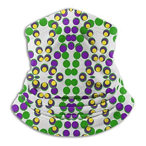 SXXYXH Mardi Gras Beads Multifuncional sin Costuras faciales M-Ask Boca Cubierta Cuello Polaina Protector Solar Polvo Bandanas para Pesca Motocicleta Correr