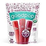 GoodPop Organic Freezer Pops - 100% Juice, No Added Sugar - 24ct