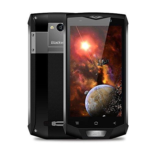 Blackview BV8000 Pro- Android 7.0 5 pulgadas FHD pantalla IP68 al aire libre Smartphone MTK6757 Octa Core 2.3GHz 6 GB RAM 64 GB 8MP + 16MP cámara Impermeable / a prueba de choque - Negro-Gris