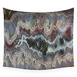 HYDDAXJW Alta qualità Cady Mountain Banded Agata Wall Tapestry Cover Telo da Spiaggia Tiro Coperta Picnic Yoga Mat Tessuti per La Casa Decorazione,150X230Cm