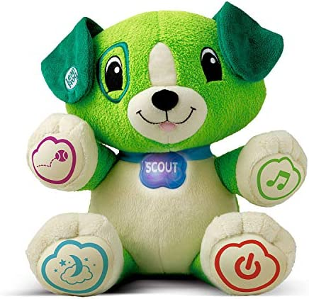 LeapFrog My Pal Scout, Plush Pre School Learning Toy with Personalisation, Songs, Learning Puppy with Phrases and Lullabies, Suitable for 6 Months and 1, 2, 3 Year Old Boys and Girls