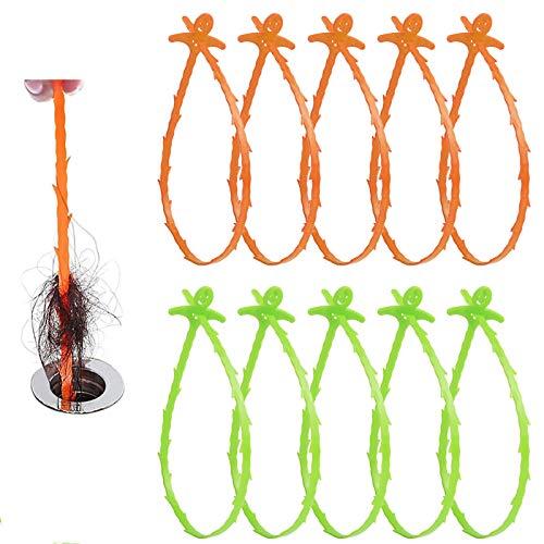 Kunststoff rohrreinigungsspirale, 10er Pack 20 Zoll Spirale Abfluss Rohrreinigung, Rohrreiniger Abflussreiniger, Drain Snake für Kanalisation, Küche, Waschbecken, Badewanne
