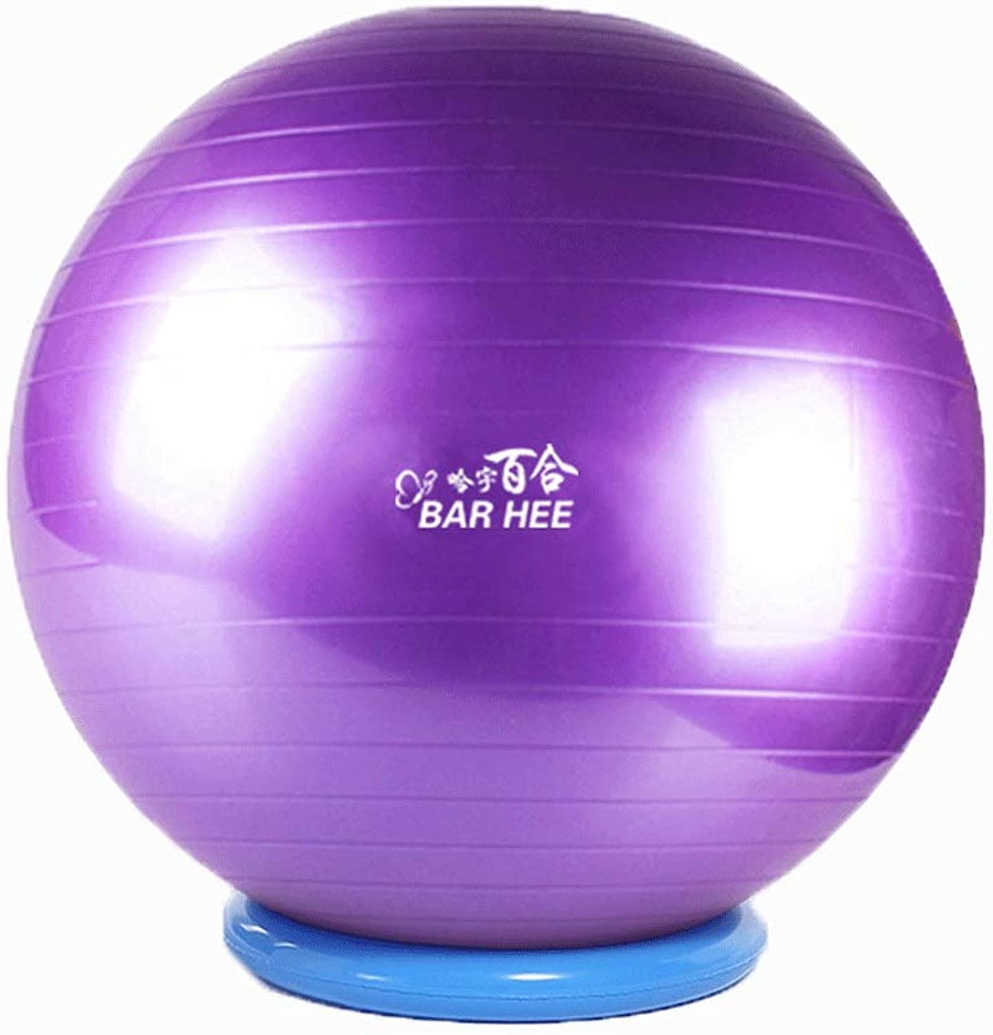 Yoga Ball with retaining Ring Gym Ball Thick ExplosionProof Environmentally Friendly Tasteless Gymnastic Ball Baby Sense Training (color   Purple, Size   55CM)
