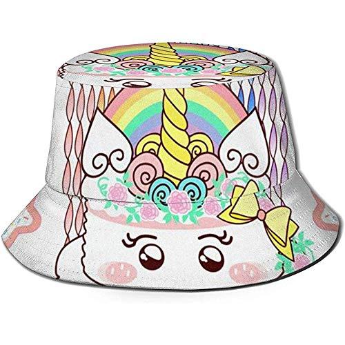 Well I do! Bucket Hat Einhorn-Geburtstags-Kuchen-weiße Eimer-Hut-Sommer-UVsonnen-Fischer-Kappe Unisex für den Reise-Strand im Freien