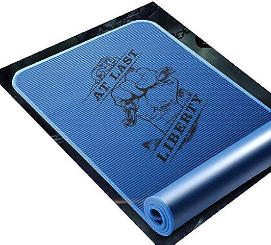 QYSZYG Tapis de Yoga Tapis de Fitness Yoga débutant Sportif épaississement antidérapant élargi Longue Formation de Sit-up (Couleur   D, Taille   15mm)