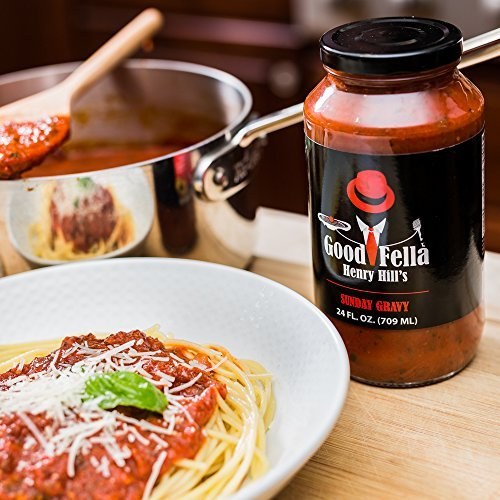 Gourmet Italian Pasta Sauce by Goodfella Henry Hill - All Natural Homemade Marinara Prime Pantry- No Sugar Added- Gluten Free- No Preservatives- Paleo Friendly Tomatoes- Perfect for Italian Cooking