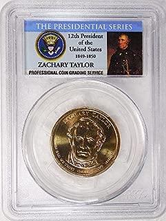 2009 P Pos. A Zachary Taylor Presidential Dollar PCGS MS 66 FDI Presidential Label Holder