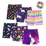 ZukoCert Girls' Shorts Colour Dance Shorts Girls Safety Short Breathable Bike Short for Girls Printed Shorts(6-PACK-PS1-140)