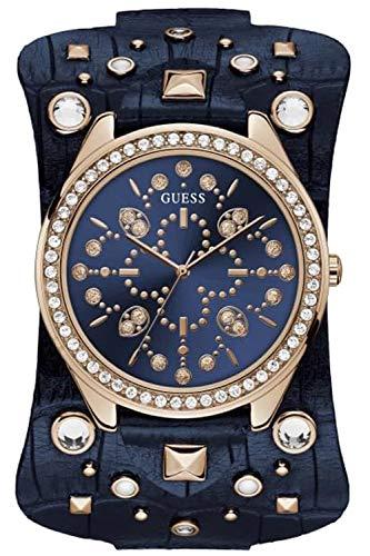 Guess Rebel Damen Uhr analog Quarzwerk mit Leder Armband W1138L3