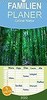 Gruene Natur - Familienplaner hoch (Wandkalender 2022 , 21 cm x 45 cm, hoch): Die Natur bietet die Farbe Gruen in vielfaeltigen Schattierungen (Monatskalender, 14 Seiten )