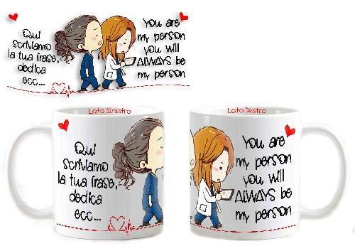 Tazza Mug Personalizzata Grey's Anatomy You Are My Person Tua Dedica