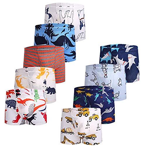 JackLoveBriefs Jungen Boxer Unterhose Baumwolle Kinder Unterwäsche (2-10 Jahre, Packung mit 9 Stück)