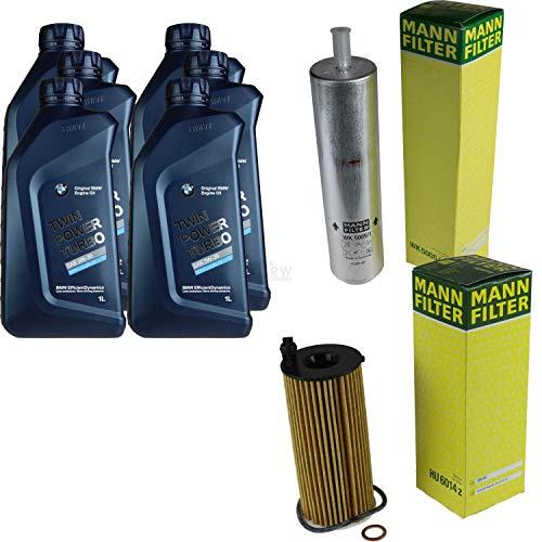 Preisvergleich Produktbild Filter Set Inspektionspaket 6 Liter Motoröl Original Longlife 04 Twin Power Turbo 5W30 MANN-FILTER Kraftstofffilter Ölfilter