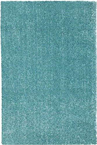 """Ikea Langsted Alfombra de área de pelo bajo, color azul y turquesa: (4'4"""" x 6'5"""")"""