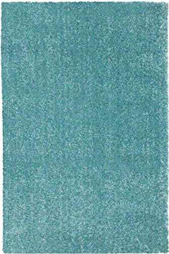 Ikea Langsted Alfombra de área de pelo bajo, color azul y turquesa:...